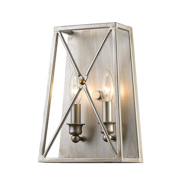 Z-Lite Tressle Antique Silver 2 Light Wall Sonce