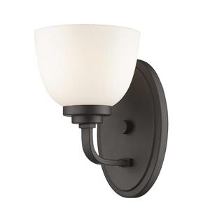 Z-Lite Ashton 8-In x 6-In x 7.25-In Bronze Wall Sconce