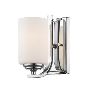 Z-Lite Bordeaux 8.50-In x 4.75-In x 6.50-In Chrome Wall Sconce