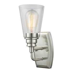 Z-Lite Annora 11.38-In x 4.75-In x 6-In Brushed Nickel Wall Sconce