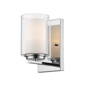 Z-Lite Willow 4.5-in Chrome 1 Light Wall Sconce