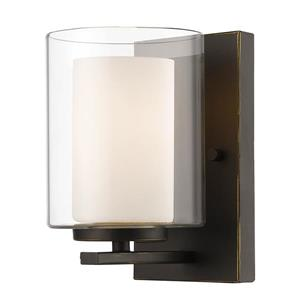 Z-Lite Willow 4.5-in Olde Bronze 1 Light Wall Sconce