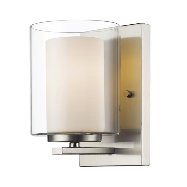 Z-Lite Willow 4.5-in Brushed Nickel 1 Light Wall Sconce