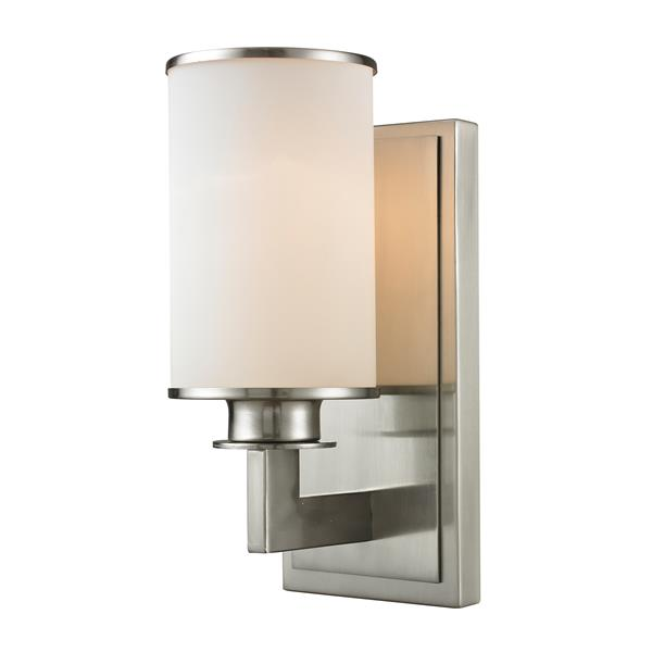 Z-Lite Savannah Brushed Nickel 1 Light Wall Sonce