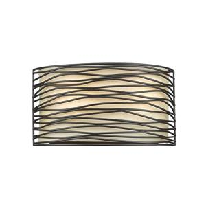 Z-Lite Zinnia 13-in Bronze 2 Light Wall Sconce