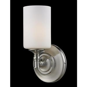 Z-Lite Cannondale 11-In x 5.75-In x 5.50-In Brushed Nickel Wall Sconce