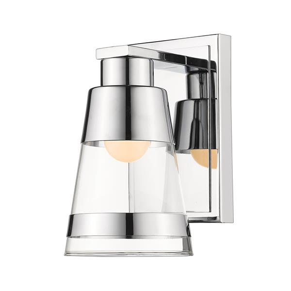 Z-Lite Ethos 4.7-in W 1-Light Chrome Wall Sconce