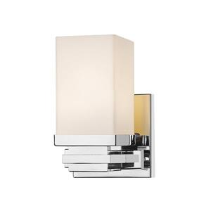 Z-Lite Avige 7.70-In x 4.60-In x 4.90-In Chrome Wall Sconce