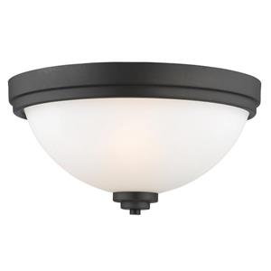 Z-Lite Ashton 15-in Bronze 3 Light Flush Mount Light