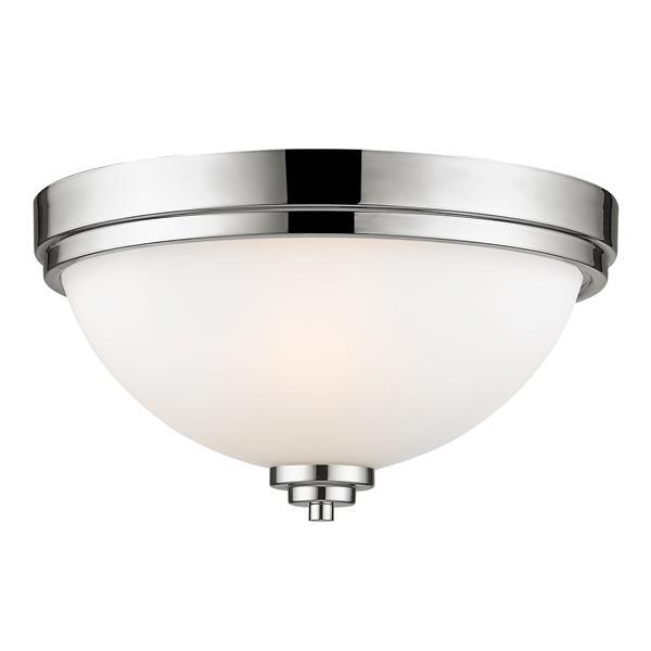 Z-Lite Ashton 13-in Chrome 2 Light Flush Mount Light