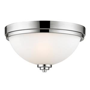 Z-Lite Ashton 13-in Chrome 2 Light Flush Mount Light
