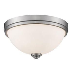 Z-Lite Ashton 13-in Brushed Nickel 2 Light Flush Mount Light