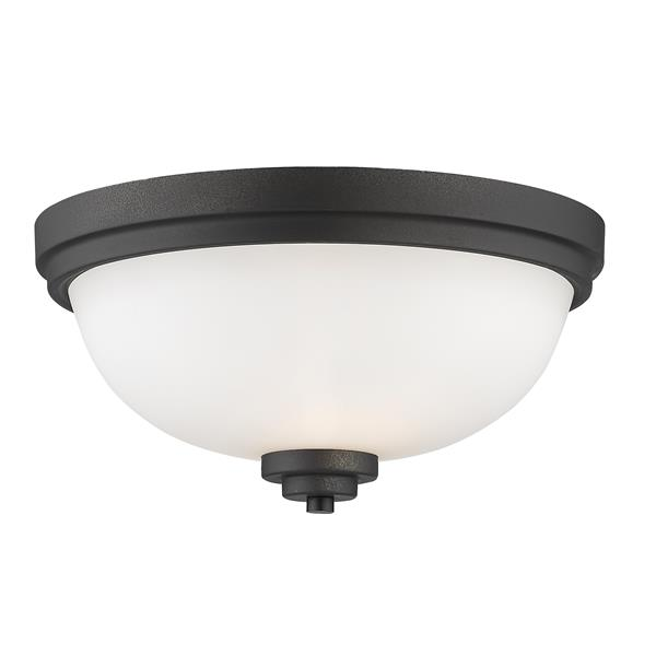 Z-Lite Ashton 13-in Bronze 2 Light Flush  Mount Light
