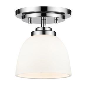 Z-Lite Ashton 6-in Chrome 1 Light Flush  Mount Light