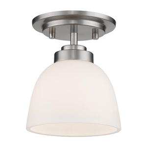 Z-Lite Ashton 6-in Brushed Nickel 1 Light Flush Mount