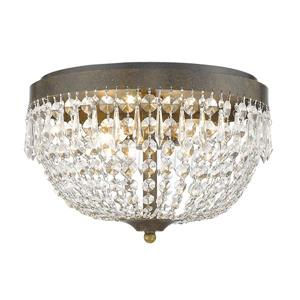 Z-Lite Danza 15-in Golden Bronze 4-Light Flush Mount Light