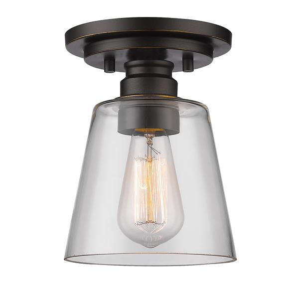 Z-Lite Annora 7-in Olde Bronze 1 Light Flush Mount