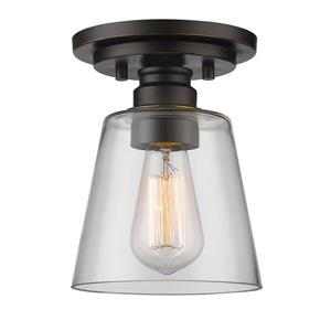 Z-Lite Annora 7-in Olde Bronze 1 Light Flush Mount