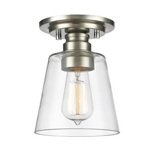 Z-Lite Annora 7-in Brushed Nickel 1 Light Flush Mount