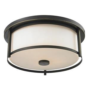 Z-Lite Savannah 15.75-in Olde Bronze 3-Light Flush Mount