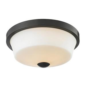 Montego 13.37-in Coppery Bronze 2-Light Flush Mount