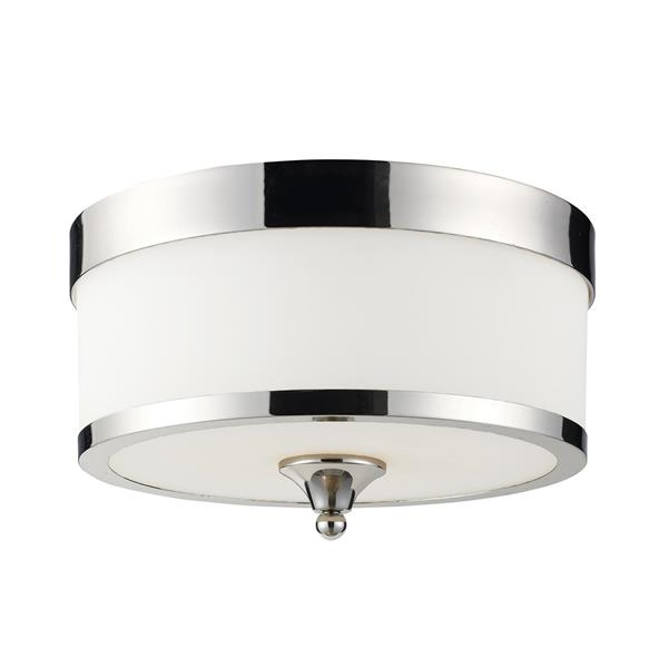Z-Lite Cosmopolitan 13-in Chrome 3-Light Flush Mount Light