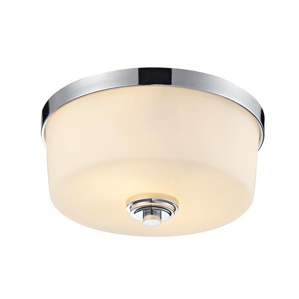 Z-lite Lamina 12.12-in Chrome 2-Light Flush Mount Light