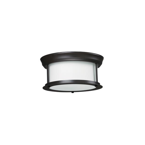 Z-Lite Sonna 2-Light 10.75-in Bronze Ceiling Light