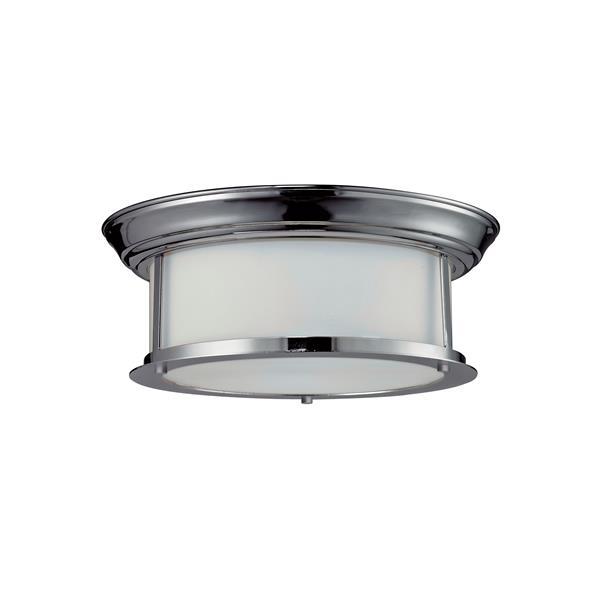 Z-Lite Sonna 2-Light 13.25-in Chrome Ceiling Light