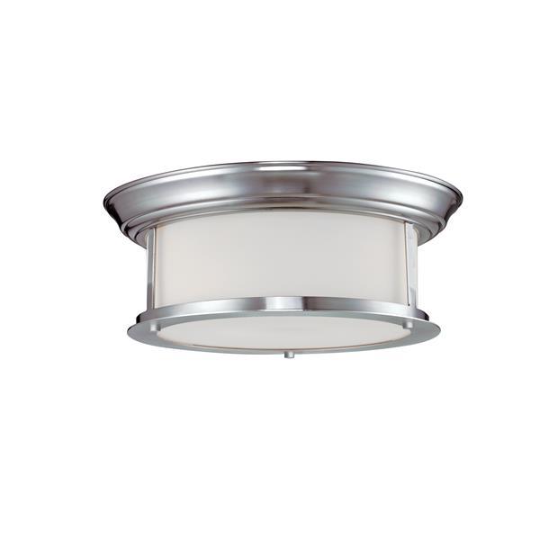 Z-Lite Sonna 2-Light 13.25-in Brushed Nickel Ceiling Light