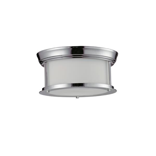 Z-Lite Sonna 2-Light 10.75-in Chrome Ceiling Light
