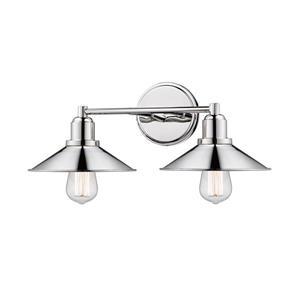 Z-Lite Casa Polished Nickel 2-Light Bathroom Vanity Light