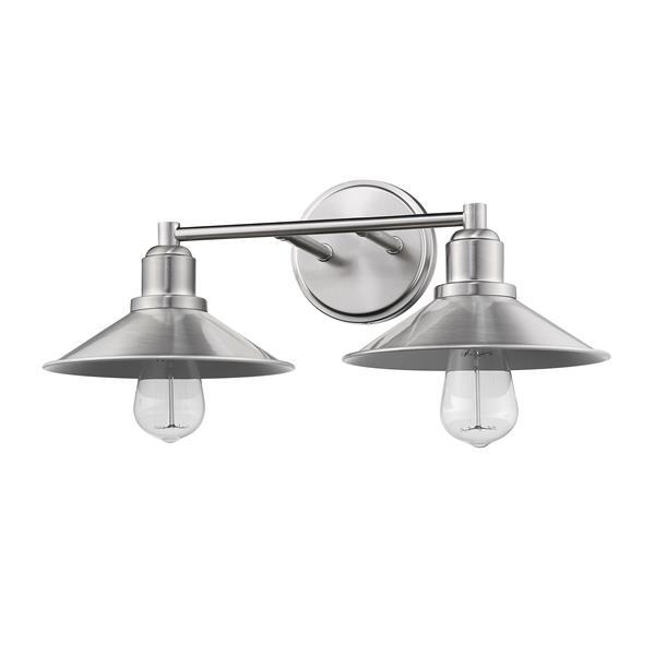 Z-Lite Casa Brushed Nickel 2-Light Bathroom Vanity Light