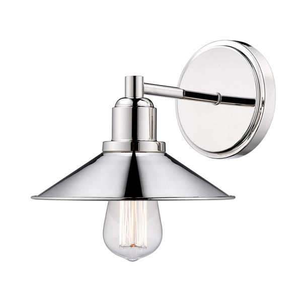 Z-Lite Casa Polished Nickel 1-Light Bathroom Vanity Light