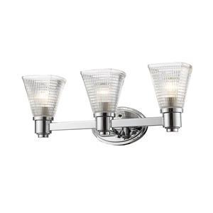 Applique pour salle de bain Intrepid, 3 lumières, chrome