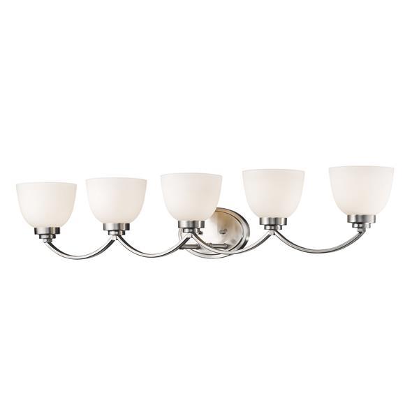 Z-Lite Ashton 5-Light Brushed Nickel Vanity Light