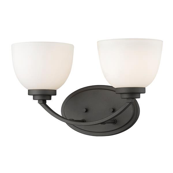 Applique pour salle de bain Ashton, 2 lumières, bronze