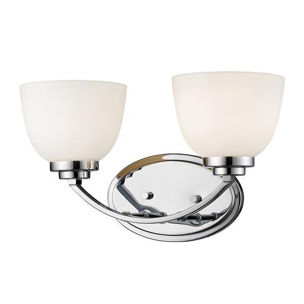 Z-Lite Ashton 2-Light Chrome Vanity Light