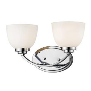 Applique pour salle de bain Ashton, 2 lumières, chrome