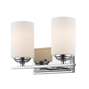 Applique pour salle de bain Bordeaux, 2 lumières, chrome