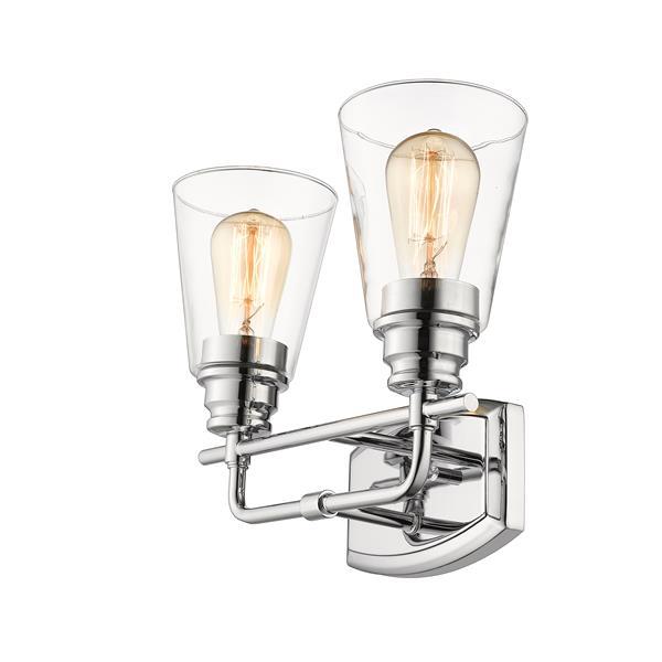 Applique pour salle de bain Annora, 2 lumières, chrome