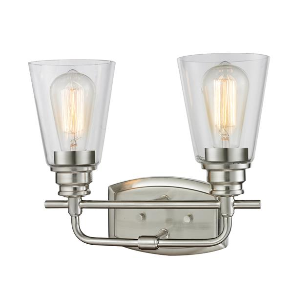 Z-Lite Annora 2-Light Brushed Nickel Vanity Light