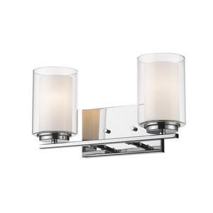 Applique pour salle de bain Willow, 2 lumières, chrome