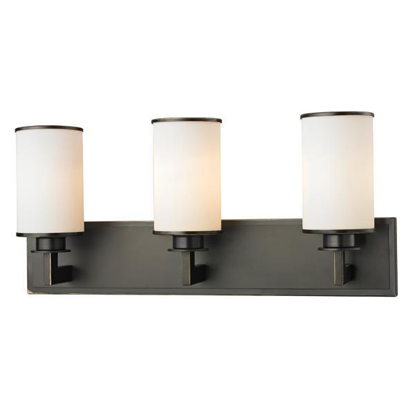 Z-Lite Savannah 5.5-in x 10.12-in Olde Bronze 3-Light Vanity Light
