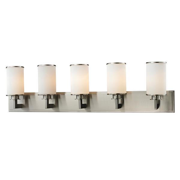 Z-Lite Savannah 5.5-in x 10.12-in Brushed Nickel 5-Light Vanity Light