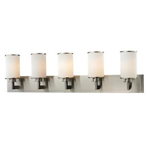 Z-Lite Savannah 5.5-in x 10.12-in Brushed Nickel 5-Light Vanity Light