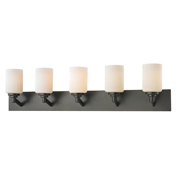 Applique salle de bain Montego, 5 lumières, bronze cuivré