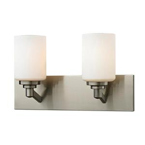 Z-Lite Montego 2-Light Brushed Nickel Vanity
