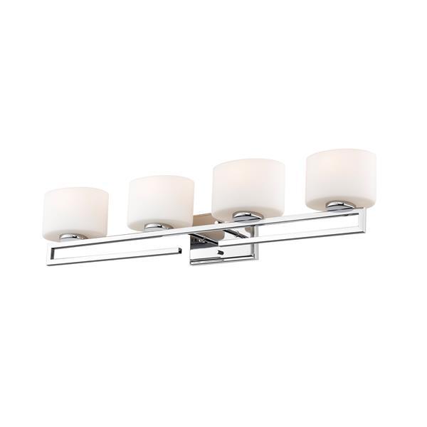Z-Lite Privet 5.62-in x 6.87-in 4-Light Chrome LED Vanity Light