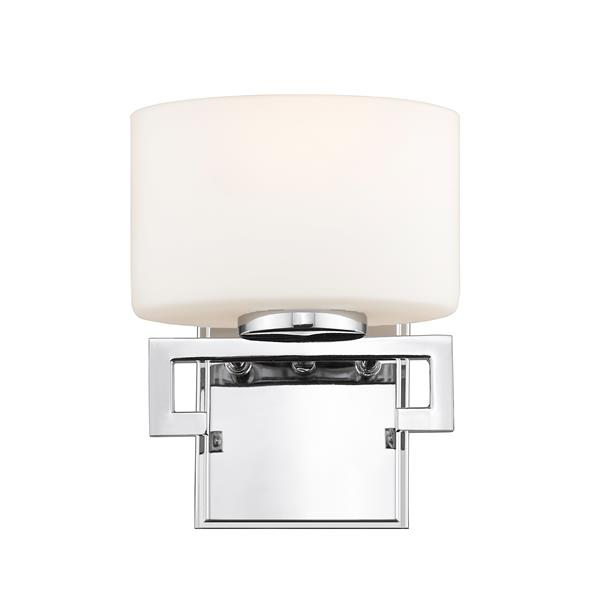 Z-Lite Privet 5.62-in x 8.12-in 1-Light Chrome LED Vanity Light